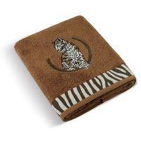Ręczniki, Bellatex Ręcznik kąpielowy Lampart brązowy, 70 x 140 cm, 70 x 140 cm