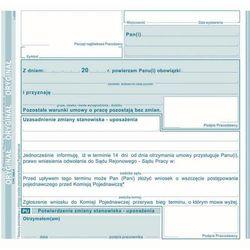 Potwierdzenie zmiany stanowiska PU Michalczyk&Prokop 560-4 - 2/3A5 (oryginał+kopia)