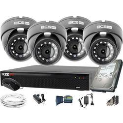 ZM12024 Zestaw do monitoringu Rejestrator LV-XVR44SE-II 4x BCS Kamera kopułowa FullHD Dysk 1TB akcesoria
