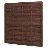 Przęsła i elementy ogrodzenia, Płot drewniany Blooma 180 x 180 cm brązowy rama 40 x 60 mm