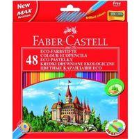 Kredki, Kredki ołówkowe 48kol. Faber-Castell Eco + temp. 120148