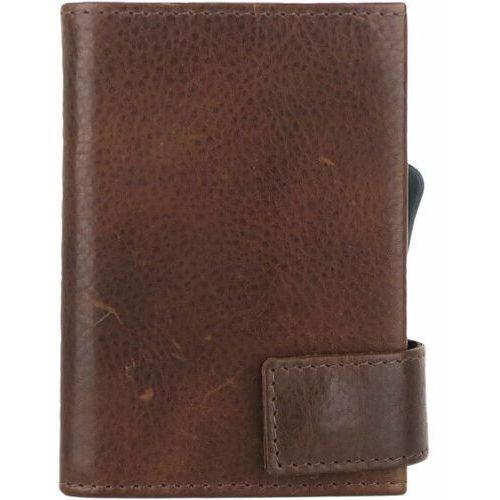 Etui i pokrowce, SecWal SecWal 2 Kreditkartenetui Geldbörse RFID Leder 9 cm braun