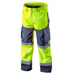 Spodnie robocze ocieplane SOFTSHELL żółte XL NEO