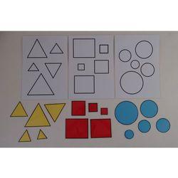 Koło, Kwadrat, Trójkąt Dopasuj figurę koła, kwadratu, trójkąta do wzoru