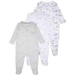 mothercare UNISEX MODERN LAYETTE SLEEPSUIT BABY 3 PACK Piżama lights multicolor