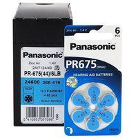 Baterie, Baterie do aparatów słuchowych Panasonic 675 6 sztuk