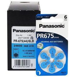 600 x baterie do aparatów słuchowych Panasonic 675 / PR675 / PR44