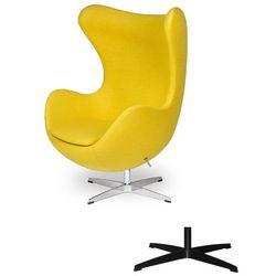 Fotel Jajo EGG CLASSIC - 3 kolory nóżek - wełna - Musztardowy żółty