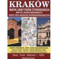 Mapy i atlasy turystyczne, KRAKÓW MAPA ZABYTKÓW ŻYDOWSKICH 1:4000 (opr. broszurowa)