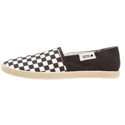 Tommy Jeans CHECK SLIP ON SHOE Espadryle black/white