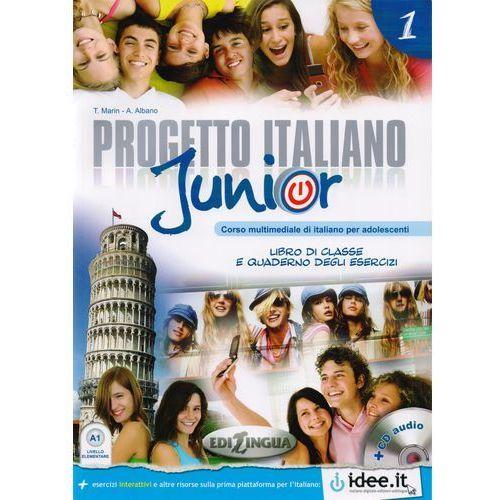 Książki do nauki języka, Progetto Italiano Junior 1 Podręcznik + Ćwiczenia + Cd (opr. miękka)
