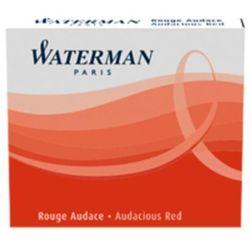 Naboje atramentowe Waterman International 6szt. czerwone