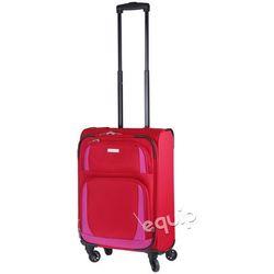 Walizka kabinowa Travelite Paklite Rocco - czerwony/różowy