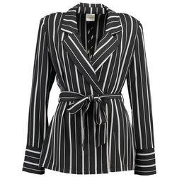 Selected Femme SFDUSINA Żakiet black/white stripes