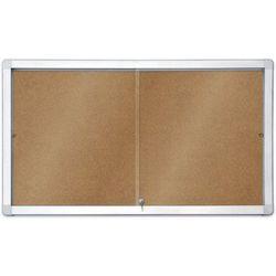 Gablota informacyjna 2x3 model 1 – wewnętrzna z przesuwanymi drzwiami korkowa 12xA4(141x70cm)