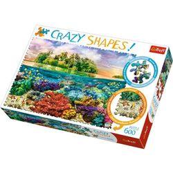 Puzzle 600 Crazy Shapes Tropikalna wyspa TREFL