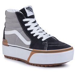 Sneakersy VANS - Sk8-Hi Stacked VN0A4BTWIYP1 Drizzle/True White
