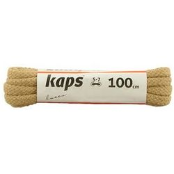KAPS sznurowadła 100 cm 09_100_200_0010 beżowy, sznurowadła bawełniane, okrągłe - Beżowy