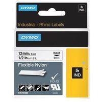 Papiery fotograficzne, DYMO Rhino Flexible Nylon Tape 12mm x 3.5m black/white