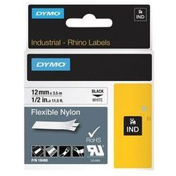 DYMO Rhino Flexible Nylon Tape 12mm x 3.5m black/white