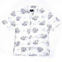 koszula BRIXTON - Bueller S/S Wvn Off White/Grey (OFWGR) rozmiar: L