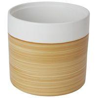 Doniczki i podstawki, Doniczka ceramiczna GoodHome ozdobna 24 cm efekt drewna
