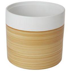 Doniczka ceramiczna GoodHome ozdobna 24 cm efekt drewna
