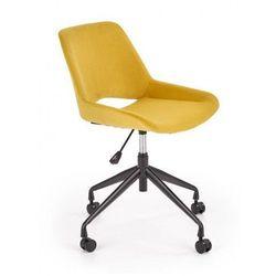 Młodzieżowy fotel tapicerowany do biurka Victor- musztardowy