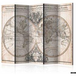 SELSEY Parawan 5-częściowy - Mappe-Monde Geo-Hydrographique