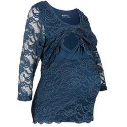 Shirt koronkowy ciążowy i do karmienia piersią bonprix ciemnoniebieski