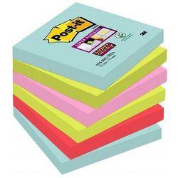 Karteczki POST-IT Super sticky, (654-6SS-MIA), 76x76mm, 6x90 kart., paleta Miami