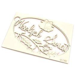 Świąteczna ramka Wesołych Świąt 10x6,5 cm - 03