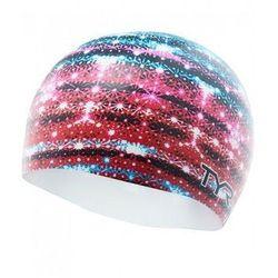 TYR CZEPEK GLITZ GRAPHIC CAP SILICONE CAP RED-WHITE-MULTI