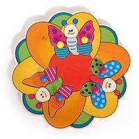 Gry dla dzieci, HESS Drewniana układanka dla dzieci Motylki