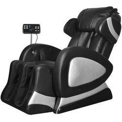 vidaXL Elektryczny fotel do masażu z ekranem, czarna, sztuczna skóra Darmowa wysyłka i zwroty