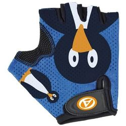 Rękawiczki kolarskie AUTHOR JUNIOR Pinguin dziecięce niebiesko-czarne