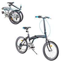 """Pozostałe rowery, Rower składany DHS Folder 2095 20"""" - model 2019, Czarny"""