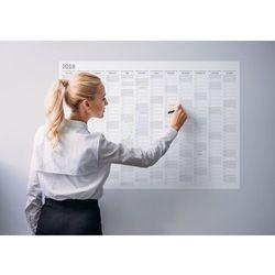 Planer kalendarz ścienny 2018 papierowy suchościeralny 84x59 A1