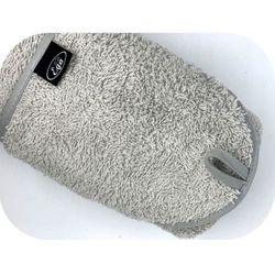 Szare okrycie kąpielowe 75x75 ręcznik z kapturkiem Ega