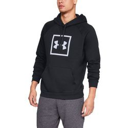 Under Armour Bluza z kapturem RIVAL FLEECE LOGO HOODIE Czarna - Czarny