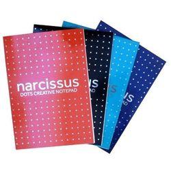 Blok biurowy NARCISSUS A5 w kropki 80k.