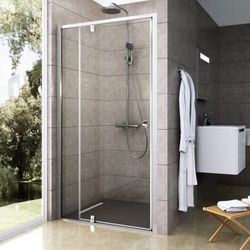 Ravak Pivot drzwi prysznicowe PDOP2-120, wys.190 cm Biały/Chrome+Transparent 03GG0100Z1