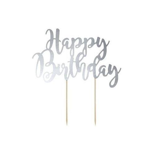 Pozostałe wyposażenie domu, Topper na tort Happy Birthday - 22,5 cm
