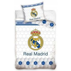 Pościel Piłkarska Real Madryt 160x200 HERB LOGO