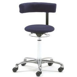 Krzesło aktywne TWIST, obrotowe oparcie, tkanina, niebieski