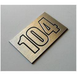 Numer, Numery Grawerowane na Drzwi z aluminium potrójny