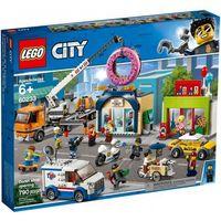 Klocki dla dzieci, 60233 OTWARCIE SKLEPU Z PĄCZKAMI (Donut shop opening) KLOCKI LEGO CITY