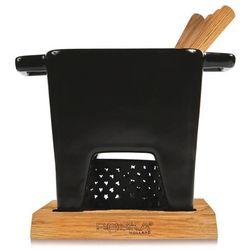 Zestaw do fondue Tapas czarny duży