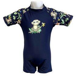 Strój kąpielowy kombinezon dzieci 76cm filtr UV50+ - Navy Jungle \ 76cm