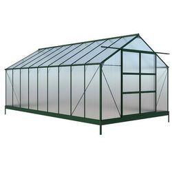 Szklarnia ogrodowa IXORA z poliwęglanu o powierzchni 16,8 m², z podstawą
